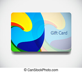 Colorful gift card. EPS10 vector