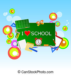 school green table with symbol vector illustration