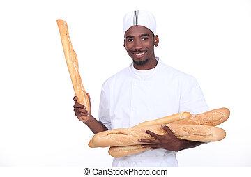 panadero, baguettes