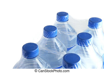 Six pack of water bottles