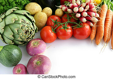 Array of vegetables