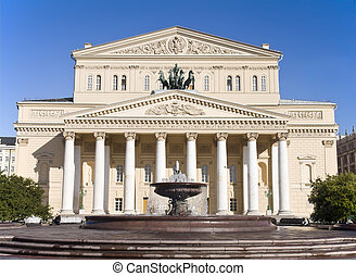 Bolshoi Theater in Moscow, Russia - Daylight view of the...