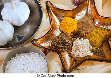 Indian spices - Selection of Indian spices ready for cooking...