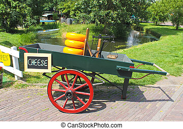 Cheese cart on the island of Marken. Netherlands