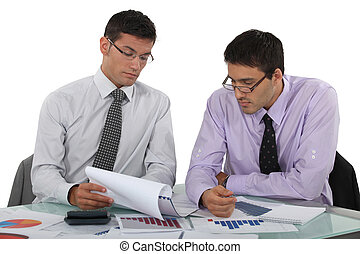 Two accountants at work