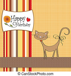 birthday card with funny cat