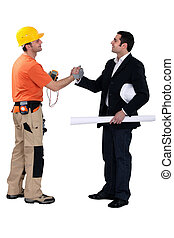 Engineering forming a pact with a tradesman