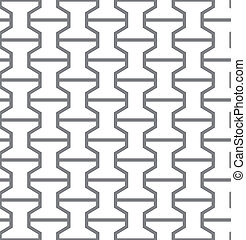 Simple geometric vector seamless gray pattern