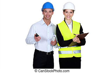 Architect and building inspector