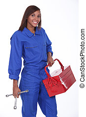 black female mechanic