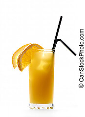 Screwdriver cocktail drink isolated on white background