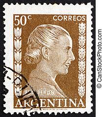 Postage stamp Argentina 1952 Eva Peron, Evita - ARGENTINA -...