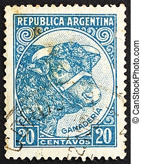 Postage stamp Argentina 1942 Bull, Cattle Breeding -...