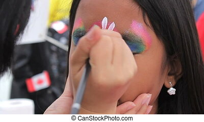 Princess Face Painting Asian Girl - A cute 10 year old Thai...