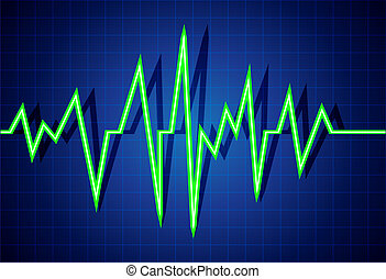 Pulse - Abstract heart beats cardiogram illustration