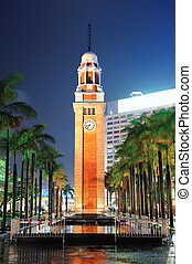Clock Tower - Clock tower in Hong Kong at night