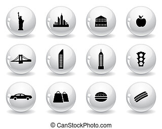 Web buttons, New York symbols