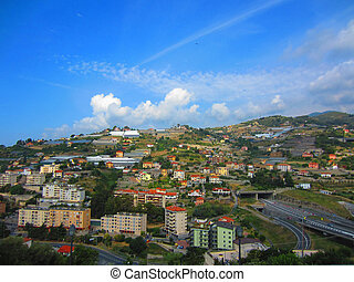 San Remo, Italy - View of San Remo in Italy...