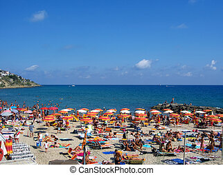 Beach in San Remo, Italy