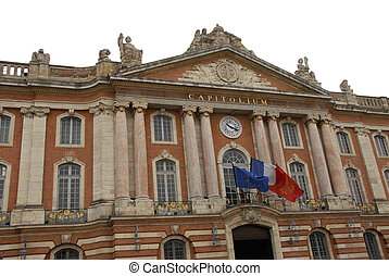 Toulouse Capitole, famous place in Toulouse, France