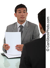 Applicant and recruiter in interview