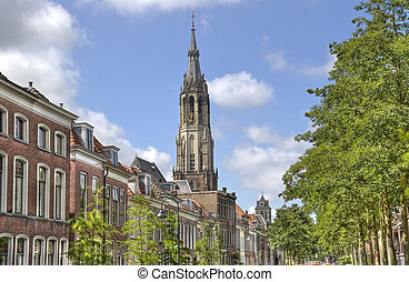Church Tower of Delft, Holland