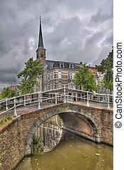 Delft Bridge and Church