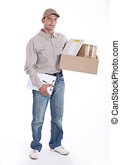 Mailman with registered mail