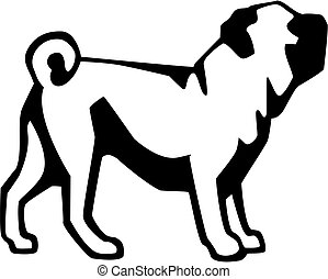Pug - vector illustration of pug dog