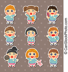 kid student stickers
