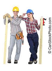 Female carpenters