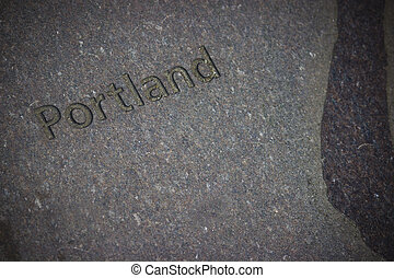 Engraved Stone Background - An engraved stone background on...