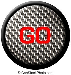 Carbon Fiber GO Button - A carbon fiber button with the word...