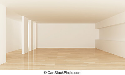 Interior of empty room design