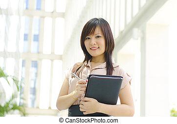 Young Asian executive
