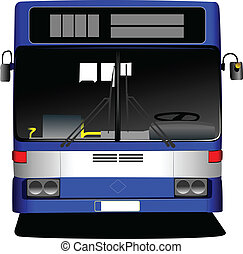 Blue Tourist bus. Coach. Vector il