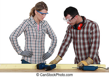DIY couple