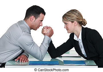 Executive arm wrestling.