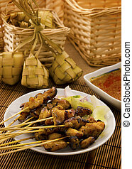 Asian Malay food - Asian Malay Ramadan food, satay chicken...