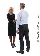 Two executives shaking-hands