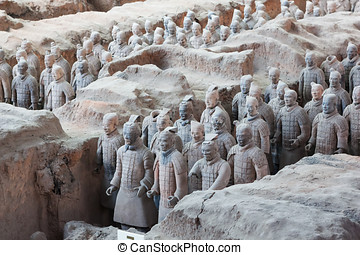 Terracotta Warriors in Xian, China - The army of terracotta...