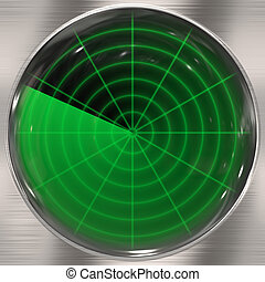 Clear Radar Screen - Illustration of a radar screen - blips...