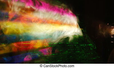 Smoke and laser rays - Laser rays lighting through the...
