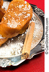 A sweet Spanish classic - Torrijas, fried bread slices...