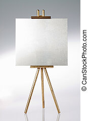 Tripod, easel and blank space