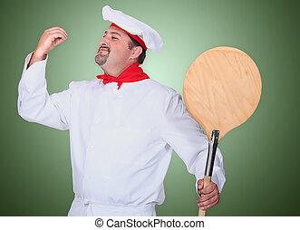 Portrait of a pizza maker