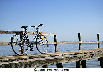Bicycle on a jetty