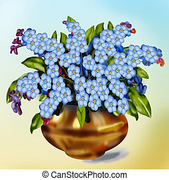 Forget-me-not flowers - Forget-me-not small beautiful...
