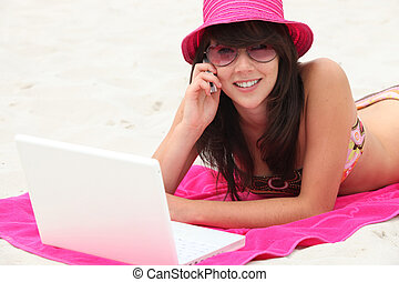 nuevo, tecnologías, playa
