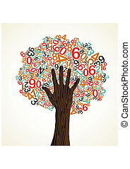 School education concept tree hand - School education...